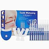 Blanqueamiento dental, Kit de blanqueamiento dental, Blanqueamiento de Dientes, Inicio Cuidado Dental Dientes Kit Blanco con Luz LED, Efectivo para mejorar los dientes amarillos