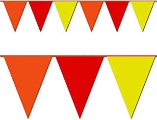 Triangle Pennant Flags Red, Orange and Yellow 12