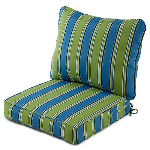 outdoor furniture cushions walmarts Greendale Home Fashions 2-Piece Outdoor Deep Seat Cushion Set, Belize