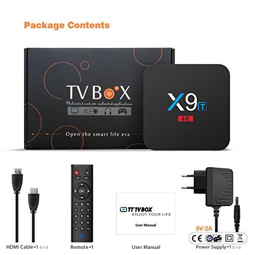 Android Smart TV Box Bqeel X9T Android 6.0 TV Box mit Wireless Fernbedienung 7 S912 Octa-Core CPU / 2GB RAM + 16GB eMMC / 1000M LAN / 2.4G WiFi / Bluetooth 4.0 Streaming Box unterstützt 1080p / 4K