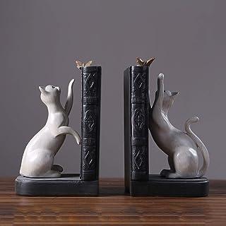TLMYDD Américain Maison créative Livre de Livre de Chat Petit Ornements Bureau étude Livre de Bureau Livre par décoration ...