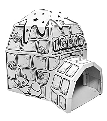 Ricco Kids 3D Cardboard Playhouse for Colouring and Craft Works
