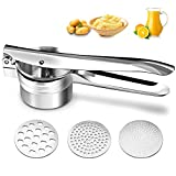 Haolide Multi-Purpose Potato Ricer,Fruits and Vegetables Baby Food Stainless Steel Strainer/Masher/Ricer Large Capacity