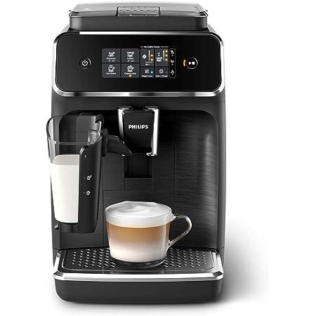 Philips Série 2200 EP2232/40 Machine à café automatique, 3 spécialités de café (système de lait LatteGo) noir mat/noir brossé