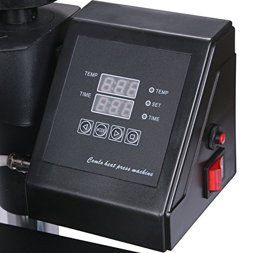 Lartuer Transferpresse Tassenpresse Textilpresse T Shirtpresse Heat Press Machine 8 in 1 Mulitifunktional Sublimation 360-Grad-Drehung (8IN1) - 8
