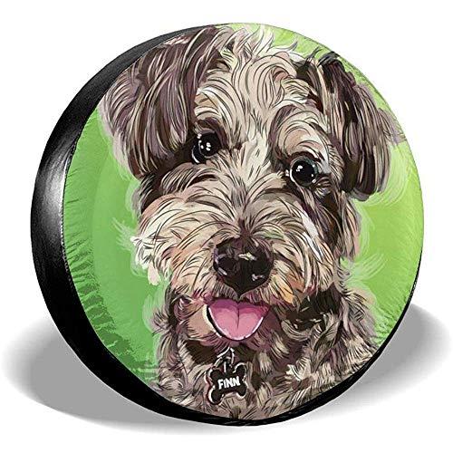 Drew Tours Nette lustige Hund Haustier Teddy Autoreifen Radabdeckungen Ersatz RV wasserdichte Reifenabdeckung Universal für SUV RV Truck Trailer 15inch