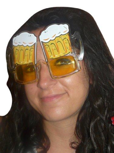 AC06, Occhiali a forma di birra per adulti e bambini! Per costumi divertenti di ogni tipo! … Per il carnevale, per l'Oktoberfest, per compleanni o addii al celibato/nubilato.