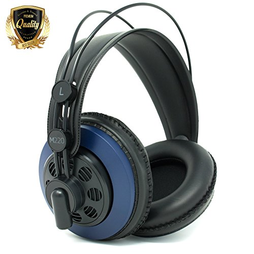 AKG M220 Pro Stylist Professionelle große Membran DJ Semi-Open High Definition Over-Ear-Kopfhörer – Blau