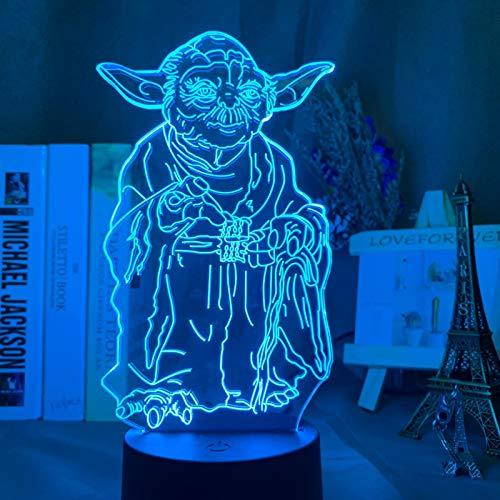 MIZUAN 3D Lampe Star Wars Baby Yoda Raumschiff NCC 1701 Imperial Stormtrooper Kindergeschenk Nachtlicht FüR Kinder Schlafzimmer Dekor Led Nachtlicht 1 16colorwithremote