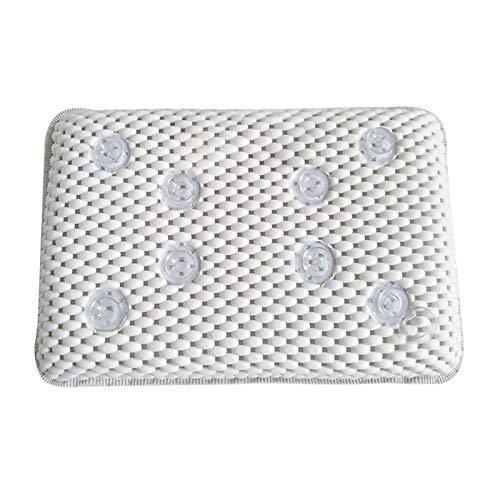 WUCHENG Bañera de Lujo SPA Almohada Cojín Esponja Relajante Bañera Mat 8 Ventosa Copa Suave Baño Cómodo Almohada Accesorios Almohada (Color : White)