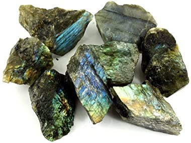 """Crystal Allies Materials - 1lb Wholesale Rough Labradorite Stones from Madagascar - Large 1"""""""