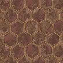 Home Plus Geometric-Print Vinyl Wallpaper, 5 Square Meters - 1 Roll , 2725188014820