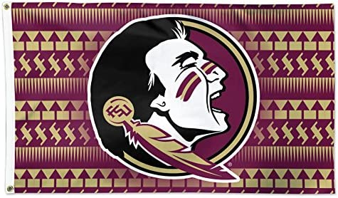 Florida State Seminoles Chevron Pattern NCAA Football 3 x 5 Foot Flag product image
