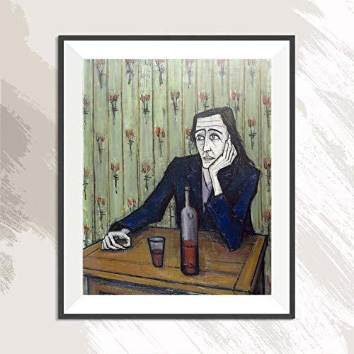 YWOHP Figura Pintura Impresionismo Sin Marco Sin Marco Pintura al óleo Lienzo Decoración del hogar Arte de la Cocina 16x20 Pulgadas