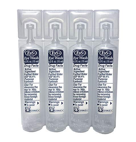 EyS Single-Use Eye Wash, 1/2-Ounce, Set of 4