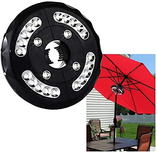 Paraguas Pole Light, Luces de sombrilla recargables de 20 + 4 enchufables para exteriores, luces de sombrilla de jardín, paraguas de playa, luces de techo, luces paraguas de tienda , para tiendas de c