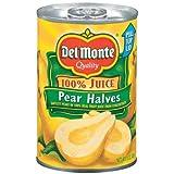 Del Monte Pear Halves in 100% Juice 15 oz (Pack of 12)