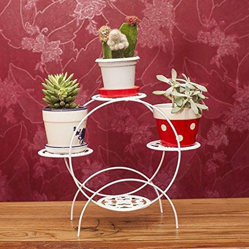 Support de fleur en métal Bureau d'art de fer Stand de fleur multi-couche salon Toute l'étagère de pot de fleur de tenue (style : A)