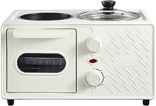 WYXR Horno Portátil para Hornear, 15,6 x 10,5 x 10,6 Pulgadas Máquina de Desayuno Multifuncional, Tostadora Cuatro en uno para el Hogar