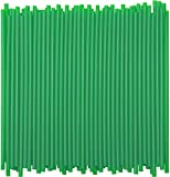 Disposable Tumbler Straws - 10 Inches Tall (Green, 250)