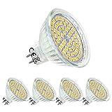 Lampadina Mr16 LED 12V Bianco Caldo,5W equivalente a 50W,GU5.3 Faretto a led,120°Fascio luminoso,Non dimmerabile,Confezione da 4