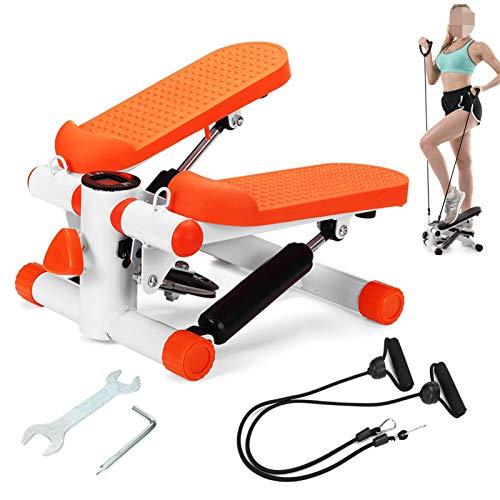 WWQU Mini Cinta de Correr Steppers Pedal Hogar silencioso Escalera hidráulica Escaladores Twist Stepper Ejercicio Herramientas 4.13 (Color : Orange)