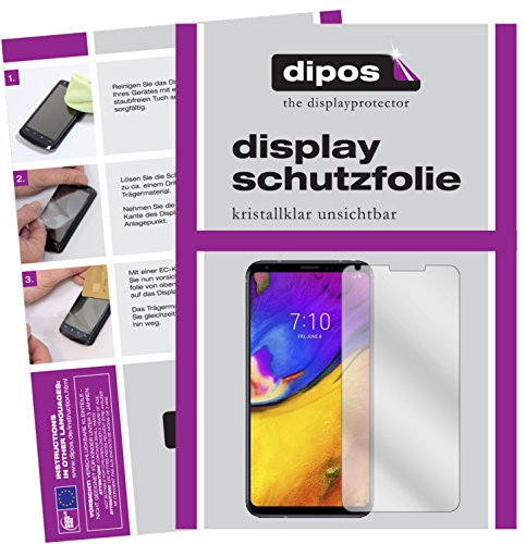 dipos I 2X Schutzfolie klar kompatibel mit LG V35 ThinQ Folie Bildschirmschutzfolie