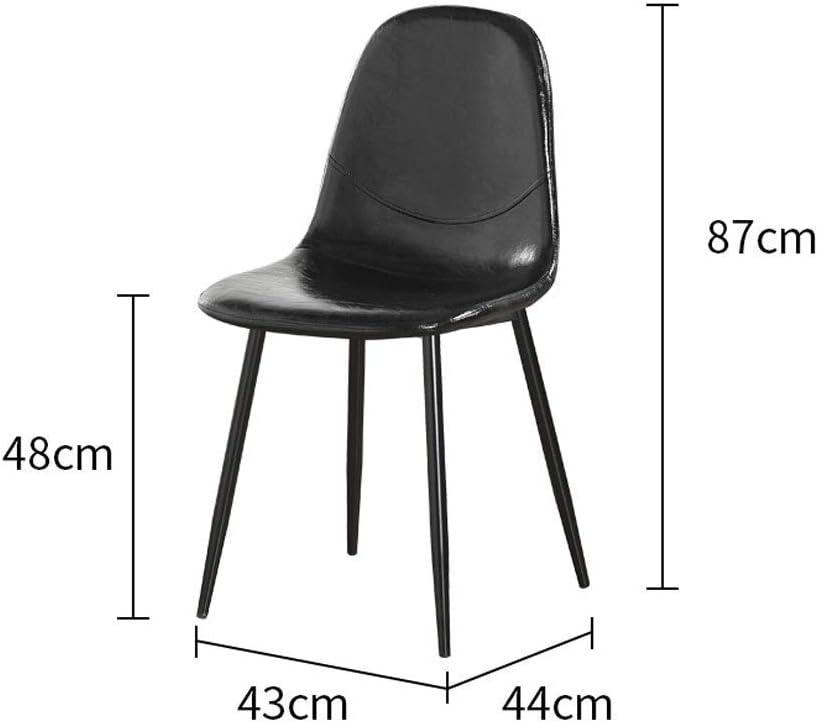 DJ Articles ménagers Chaise Chaise de Salle à Manger Chaise de Bureau en Plastique Chaise de Salle à Manger en Plastique Rétro Chaise de Bureau (Couleur: Bleu) Black