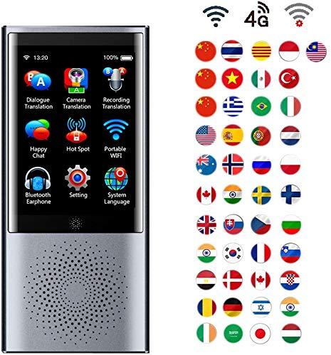 L&WB AI Intelligent Übersetzer Tragbar Sprache Übersetzung Gerät Unterstützt 4G Netzwerk, Kamera Tonaufnahme Und Offline Übersetzung, 45 Sprachen Echtzeit Gleichzeitig Für Reisen