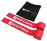 WODFitters Floss Bands for Muscle Compression Tack & Flossing, Mobility & Recovery WODs - 2 Pack with Carrying Case (Red, 2 Pack)
