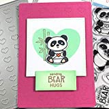 Adorable Panda Stamps And Die Sets 2020 Sending Bear Hugs Cutting Dies And Stamps For DIY Scrapbooking Album Cards