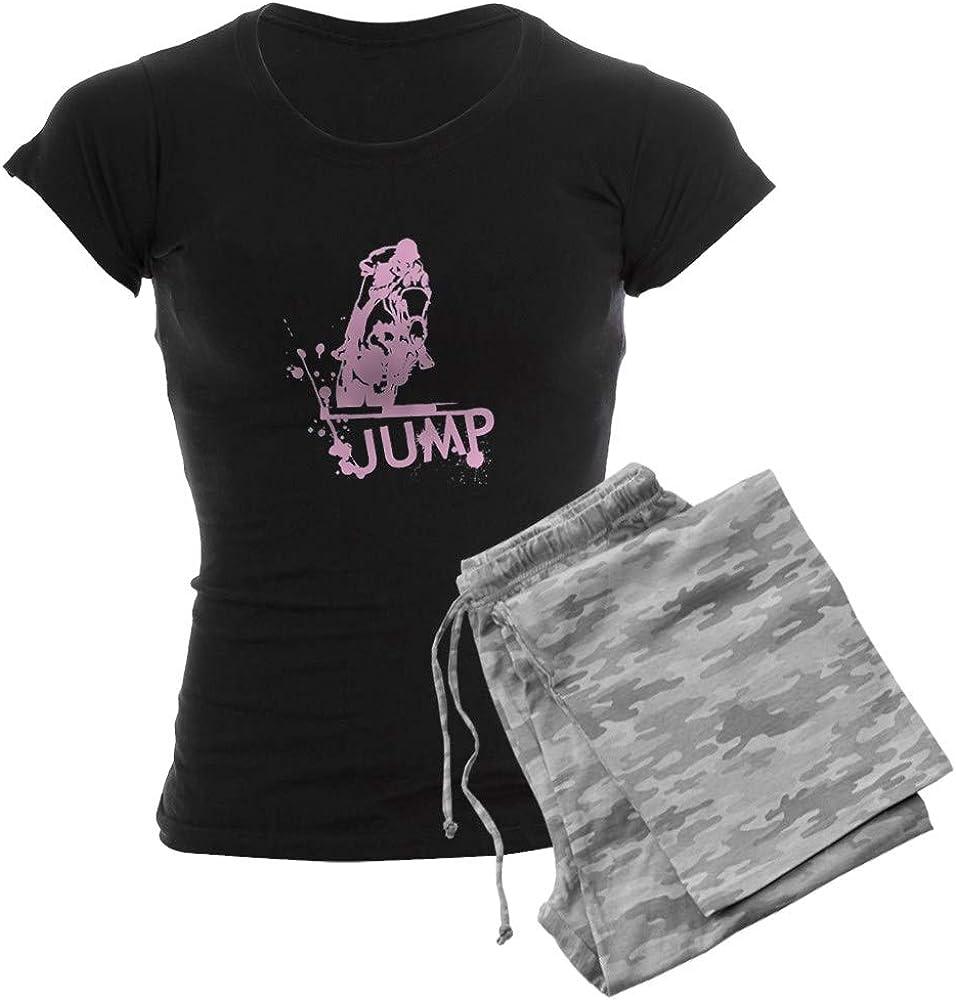 CafePress Equestrian 在庫処分 Jump 期間限定今なら送料無料 Women's Pajamas PJs Dark