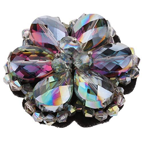 B Blesiya Clip de Zapatos Floral con Diamantes Artificiales Hebilla de Encanto para Calzado Plano/Tacón Alto de Mujer Novia - 08