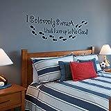 """Adesivo da parete con scritta """"I am up to No Good Harry Potter"""", decorazione per camera da letto, motivo: parole inglesi (lingua italiana non garantita)"""