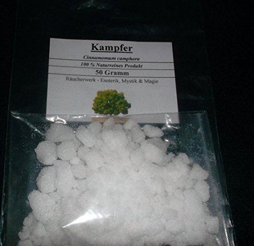 Alcanfor, 50 g (100 % natural), sahumerio para magia,
