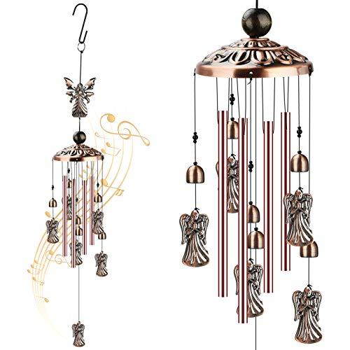 ACETOP Angel Wind Chimes, Waterproof Brass Wind Chimes Decoration for Home Indoor Outdoor Garden Yard Party, Best Retro Wind Bell Gift for Women Mom Girlfriend