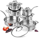 Rondell Vintage Stainless Steel Induction Cookware Kitchenware Set 11 Piece - Nonstick Cooking...