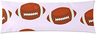 InterestPrint Body Pillow Cover Rugby Football Pillow Case Pillow Protector Cushion Cover 21X60 Inch