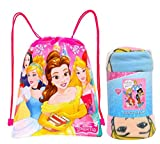 Disney / Northwest Princess Fleece Throw Blanket & Sling Tote Bag - 2 pc Set (Princess)