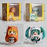 wxxsjfj Anime Estatua 2 Piezas/Set Himouto Umaru-Chan Hatsune Miku Saber Doma Umaru Ver Modelo PVC Anime Figura de Acción Colección para Niños Brinquedos 10 cm
