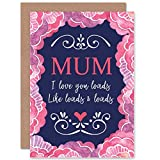 Wee Blue Coo Love You Loads, Like Loads And Loads - Cute Mothers Day/Birthday Sealed Greet...