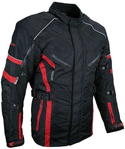HEYBERRY Herren Touren Motorradjacke Textil schwarz rot Gr. XL
