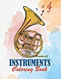 Instruments Coloring Book: Musical Instruments Coloring Book, Coloring Book Mortal Instruments