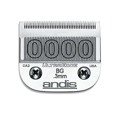 Price comparison product image Andis 64074 UltraEdge Carbon-Infused Steel Detachable Clipper Blade,  Size 0000,  1 / 100-Inch Cut Length