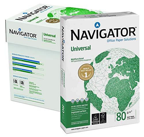Papel Navigator DIN A4 80 gr. Caja 5 paquetes