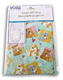 Giant Gift Bag 36'x44' for Baby Shower or Child's Birthday, boy or Girl - Giraffes & Koalas