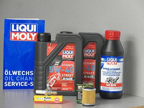 Kit d'entretien pour Yamaha YFM 250 Timberwolf avec filtre à huile, bougie d'allumage, inspection