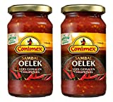 Conimex Sambal Oelek, Sauce Épicée Indonésienne au Piment de Cayenne, 2 x 200 g