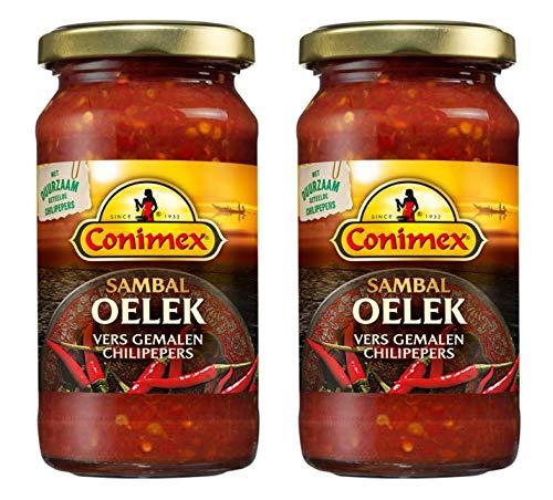 Conimex Sambal Oelek - Scharfe Chilipaste - 200g - Packung mit 2 Stück