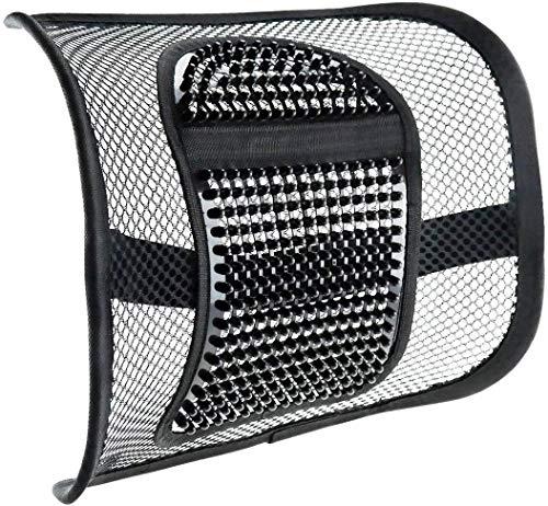 CostMad lendensteun van zeer comfortabel weefsel ter bevordering van een gezonde zithouding, pijnverlichting bij het zitten op bureaustoelen, enz, met rubberen riemen.